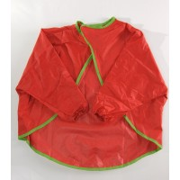 Aprons - With Sleeves Red (Ages 2-3)  (Buy 10 or more pay only $6 each)