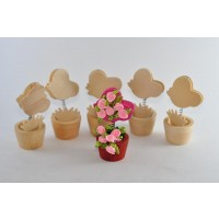Craft Flower Pots (6 pcs)