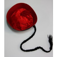 Chinese Boat Hat ( Red)